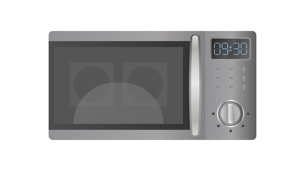 Microwave in a flat style. kitchen microwave oven isolated on a white background