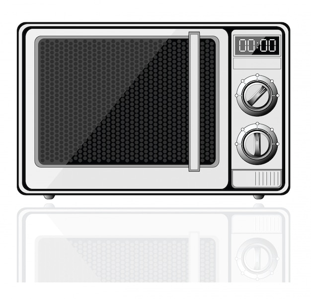 Microwave - isolated on white