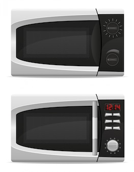 Microwave oven with mechanical and electronically controlled.