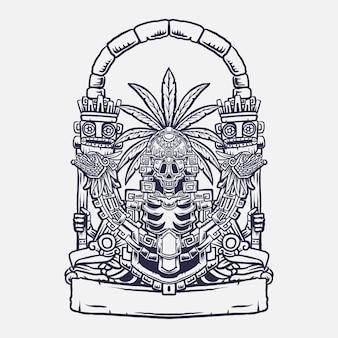 Mictlan art illustration