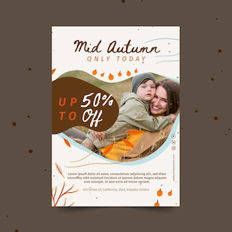 Mid autumn a5 flyer template