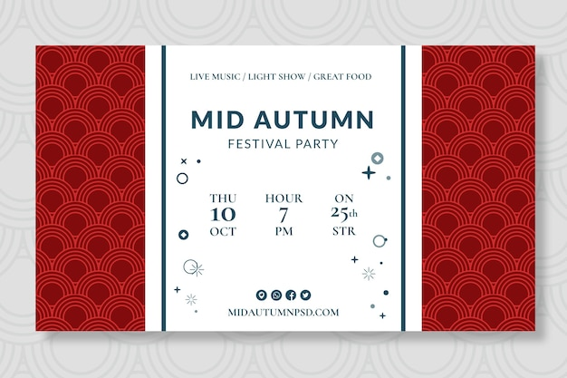Design di banner di metà autunno
