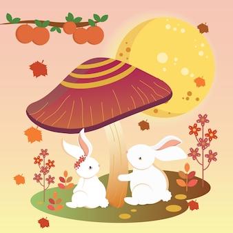 Mid autumn bunny