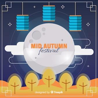 中秋の祭りの背景デザイン