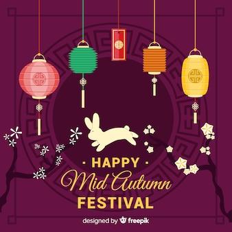 Mid autumn festival background design