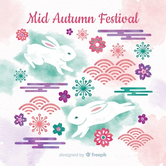 Mid autumn festival background