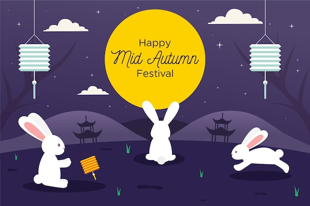 Mid-autumn festival banners template