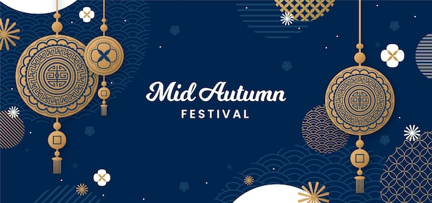 Mid-autumn festival banners
