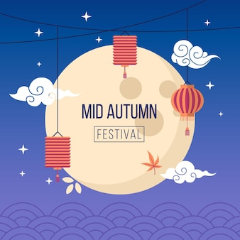 Mid-autumn festival design