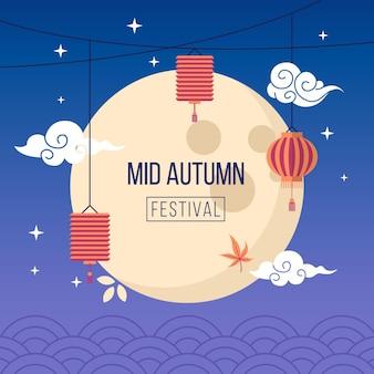 Design del festival di metà autunno