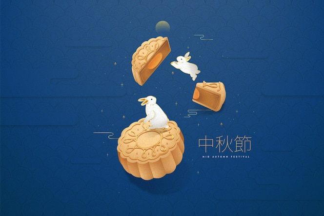 Mid-autumn festival in flat design
