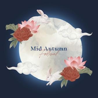 Mid autumn festival graphic and illustration