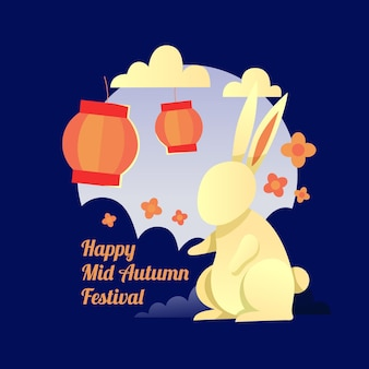 Mid-autumn festival illustrated