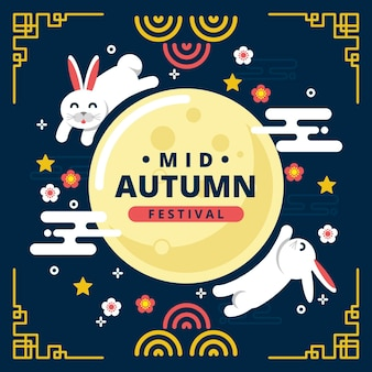 Mid-autumn festival illustration theme