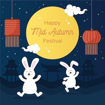 Mid-autumn festival illustration