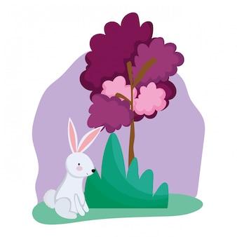 Mid autumn festival with bunny