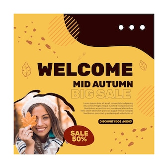 Mid autumn squared banner