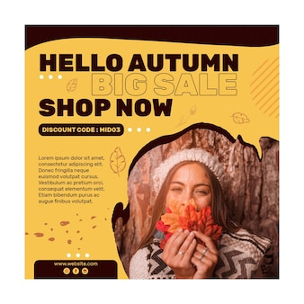 Mid autumn squared flyer template