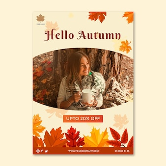 Modello di metà autunno per poster