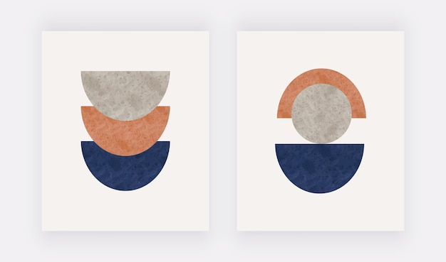 Дизайн середины века с абстрактными формами современное искусство стен дома