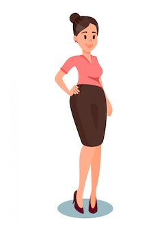 Middle aged woman in formal clothes illustration