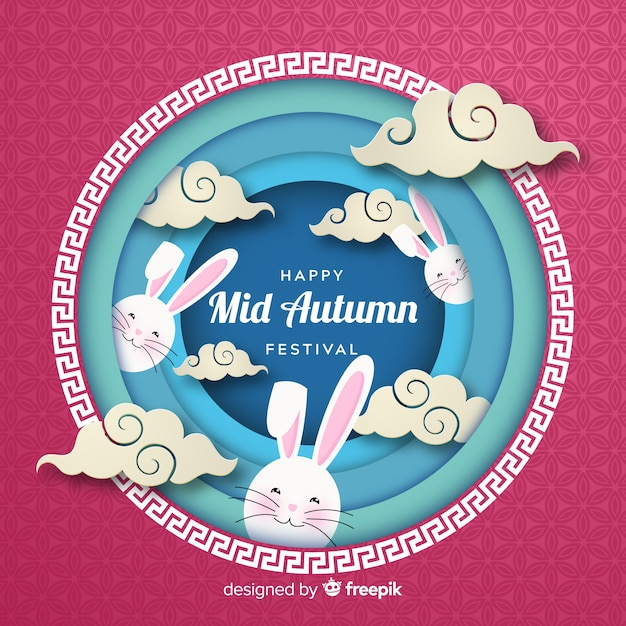 Free Middle autumn festival background SVG DXF EPS PNG - Free
