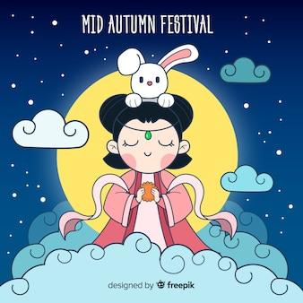 Middle autumn festival background
