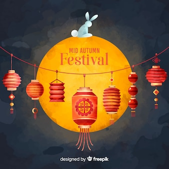 Middle autumn festival background