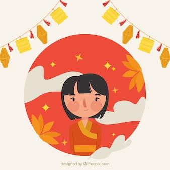 중간 가을 축제, 멋진 배경