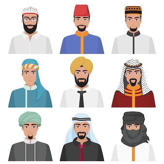 Middle eastern arabian male avatars