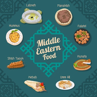 Middle eastern food vector