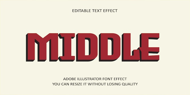 Middle editable text effect