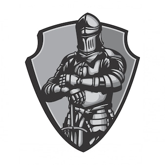 Middlebury agen knight suit vector