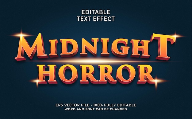 Midnight horror editable text effect