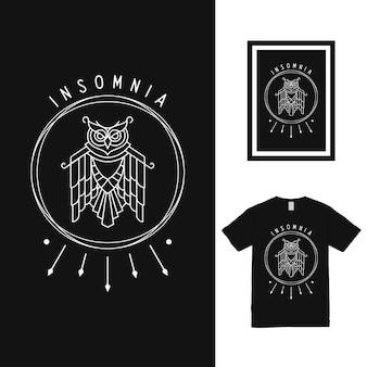 Дизайн футболки midnight owl