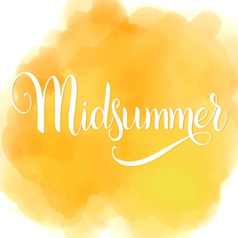 Midsummer lettering. elements for invitations, posters greeting cards
