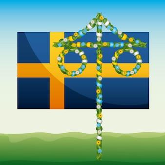 Летний флаг швеции