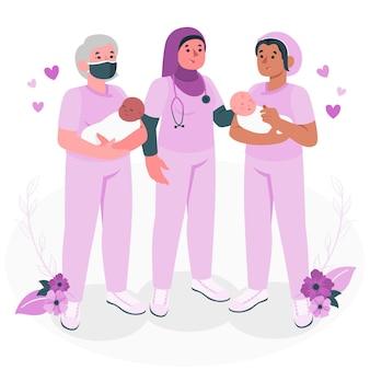 Midwivesconcept illustration