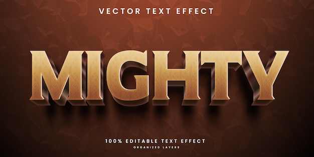 Mighty 3d editable text effect