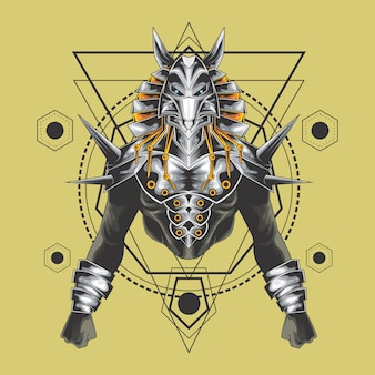 Mighty anubis sacred geometry