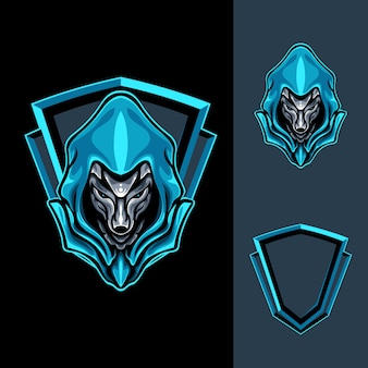 Mighty blue fox illustration