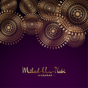Milad un nabi decorative festival background