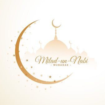 Milad un nabi festival white card design