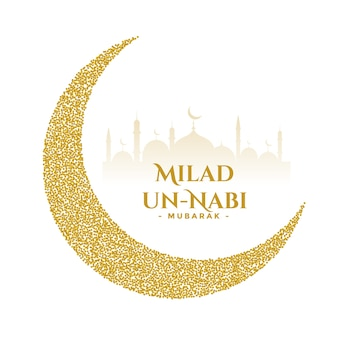 Milad un nabi golden festival wishes card design