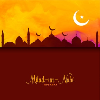 Milad un nabi greeting background