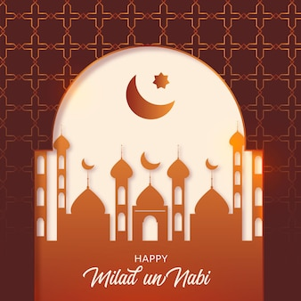 Milad-un-nabi greeting card birth of the prophet