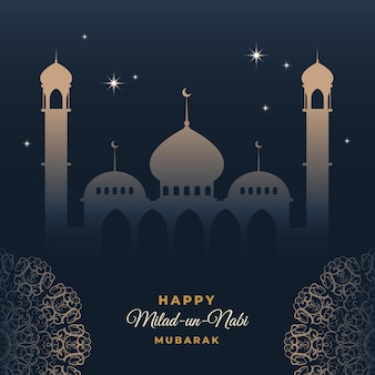 Милад-ун-наби открытка небо над мечетью