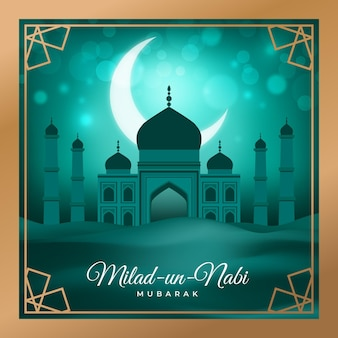 Milad un nabi greeting concept