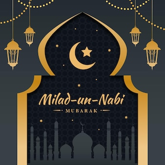 Milad-un-nabi greeting design
