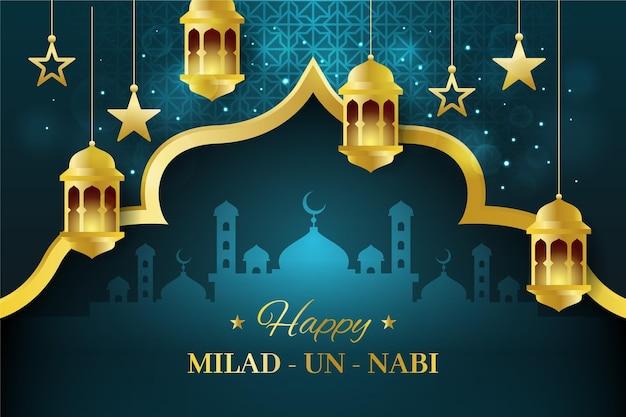 Milad-un-nabi greeting design